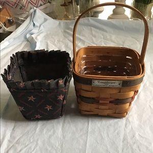 Longaberger small inaugural basket